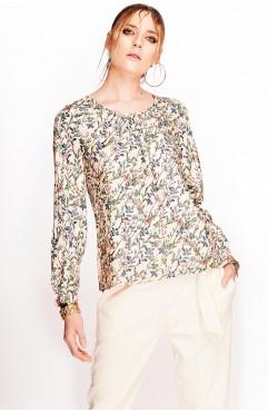 Bluza Lure nude cu imprimeu floral