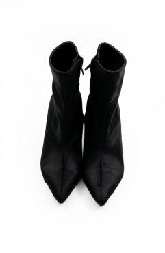 Botine dama din piele naturala de ponei negre Posh Fur Boots