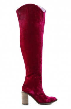 Nomad over the knee velvet boots