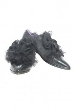 Pantofi dama din piele naturala negri Duke