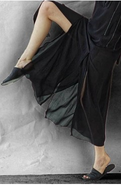 Papuci dama din piele naturala Panel