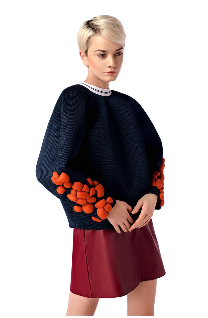 Bluza Orange Atoms