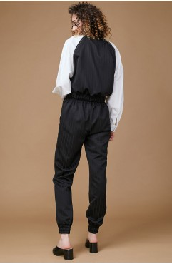 Jacheta neagra cu maneci raglan LORANNE