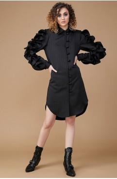 Rochie-camasa neagra cu volaneMANSEL