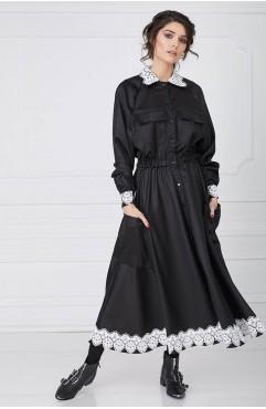 Rochie din stofa neagra WHISPERS