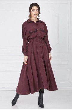 Rochie grena BOURGEOIS