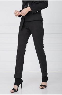 Pantaloni din brocard brodat MONOCHROME