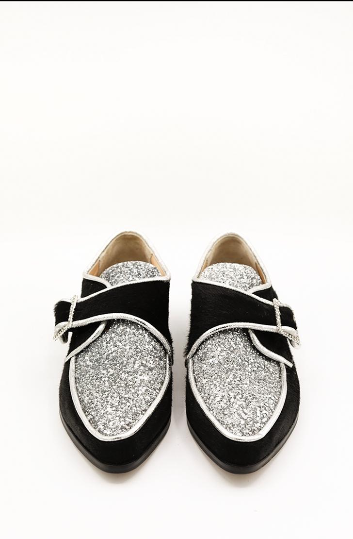 Pantofi dama din piele naturala Glitter Zenon