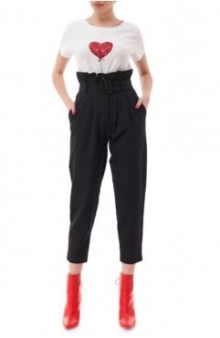 Pantaloni midi cu talie inalta Lady