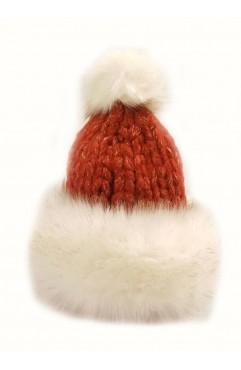 Red Lilou Fur Hat