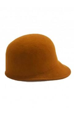 Beige Clio Cloche Hat