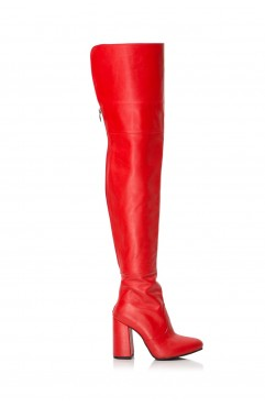 Kate Red Long Boots