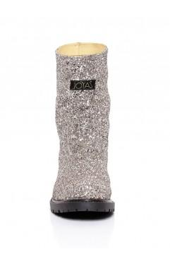 Cizme Glitter Argintii-Marimea 35,37,38