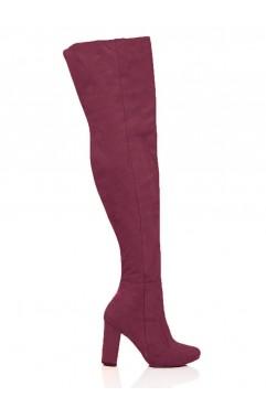 Burgundy Clara Long Boots