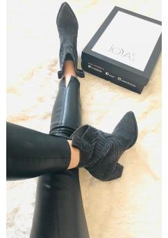 Amanda Black Cowboy Boots