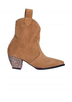 Amanda  Beige Cowboy Boots