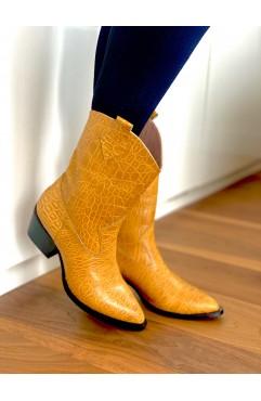 Sofia Mustard cowboy boots