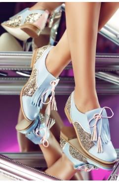 Pantofi dama din piele naturala Oxford Jolie