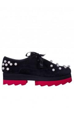 Pantofi dama din piele naturala negri Luna