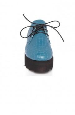 Pantofi dama din piele naturala Ada Albastri