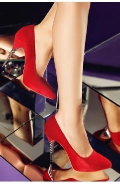 Pantofi  dama din piele naturala cu toc  Zoe Ponei