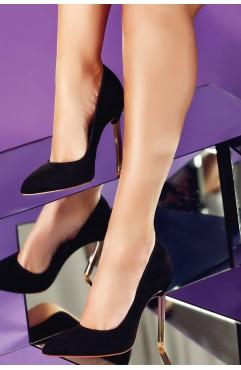 Pantofi  dama din piele naturala cu toc Caroline Negri Piele Intoarsa