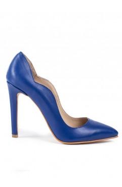 Pantofi dama din piele naturala Aria Albastri