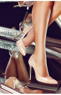 Pantofi dama din piele naturala Caroline Crem