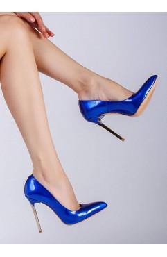 Pantofi dama din piele naturala  Caroline Albastri
