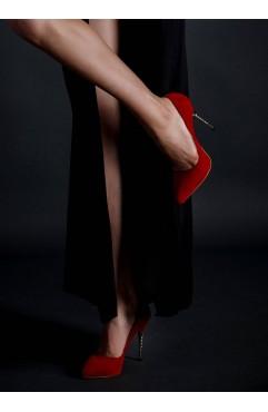 Pantofi dama din piele naturala  Zoe Rosii