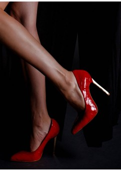 Red Luxury Keira Pumps