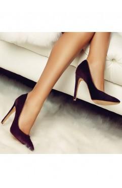 Pantofi dama din piele naturala cu toc Nora