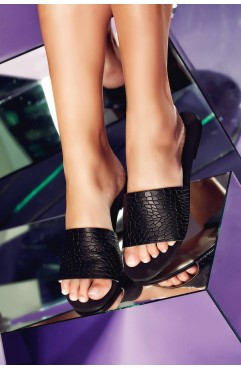 Papuci dama din piele naturala Andora Negri