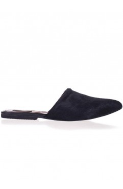 Davina black slippers