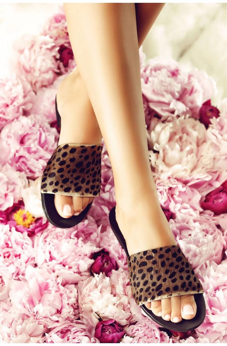 Papuci Bliss Ponei Animal Print