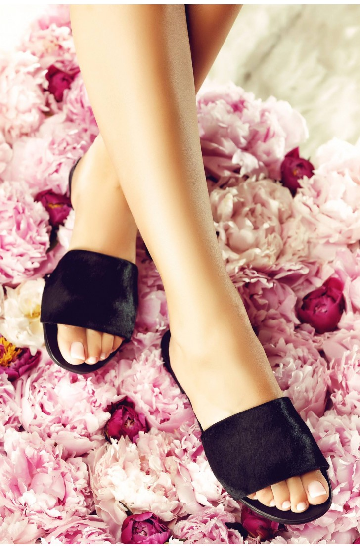 Papuci Bliss Ponei Negri