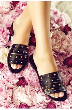 Papuci dama din piele naturala Maisie