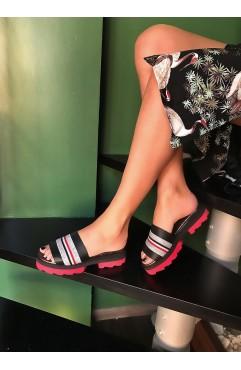 Papuci dama din piele naturala Marina