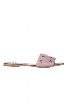 Paloma pale pink slippers