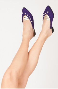 Purple Angel Mules