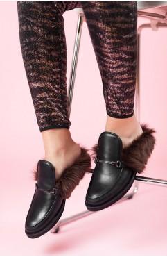Papuci dama din piele naturala Aisha - Piele Box