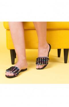 Papuci dama din piele naturala Inna