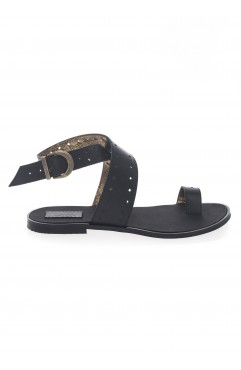 Sandale  dama din piele naturala Bambi Negre