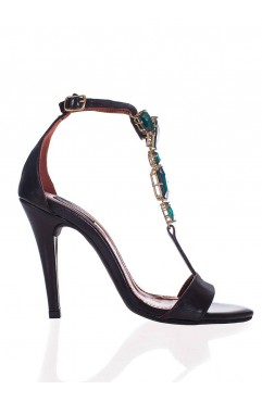 Sandale  dama din piele naturala cu toc Darlene - Accesoriu Verde