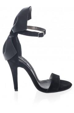 Sandale  dama din piele naturala cu toc Poem