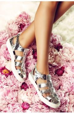Sandale dama din piele naturala Francesca - Tip Espadrile