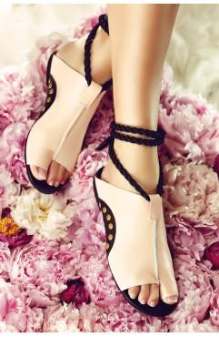 Sandale dama din piele naturala Coconut Roz