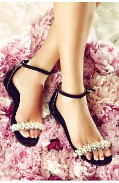 Sandale dama din piele naturala Gemma Negre
