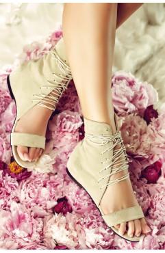 Sandale dama din piele naturala Eliza Bej