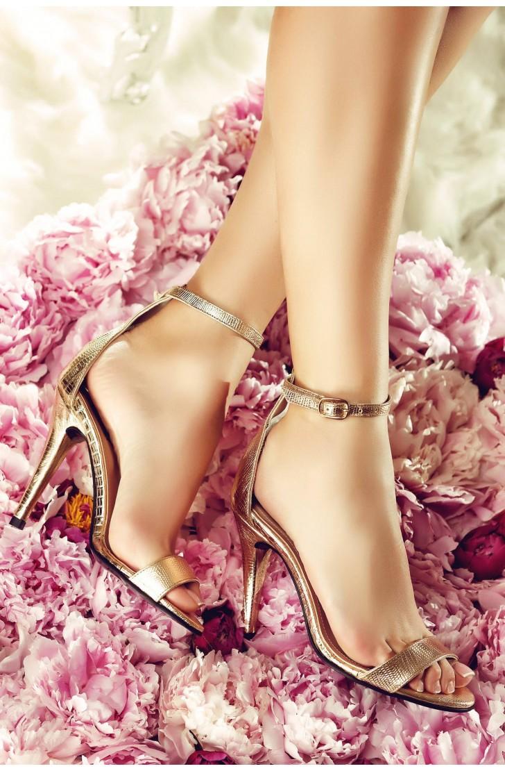 Sandale Adeline Croco Auriu